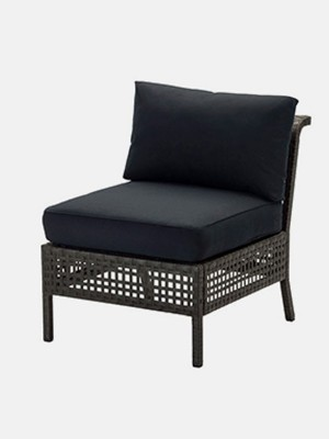 Chair, outdoor, black-brown